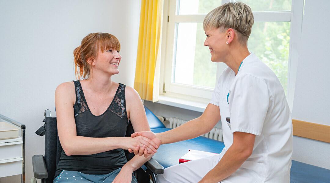 Erstgespräch und Beratung durch eine Therapeutin in der Moritz Klinik