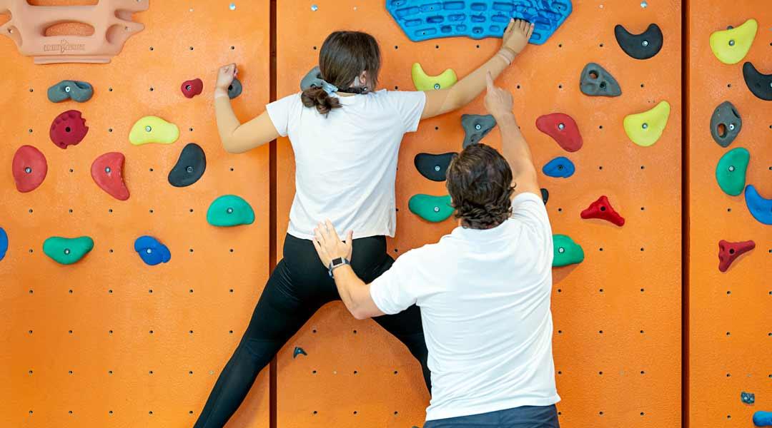 Nachsorge und Prävention Kletterwand