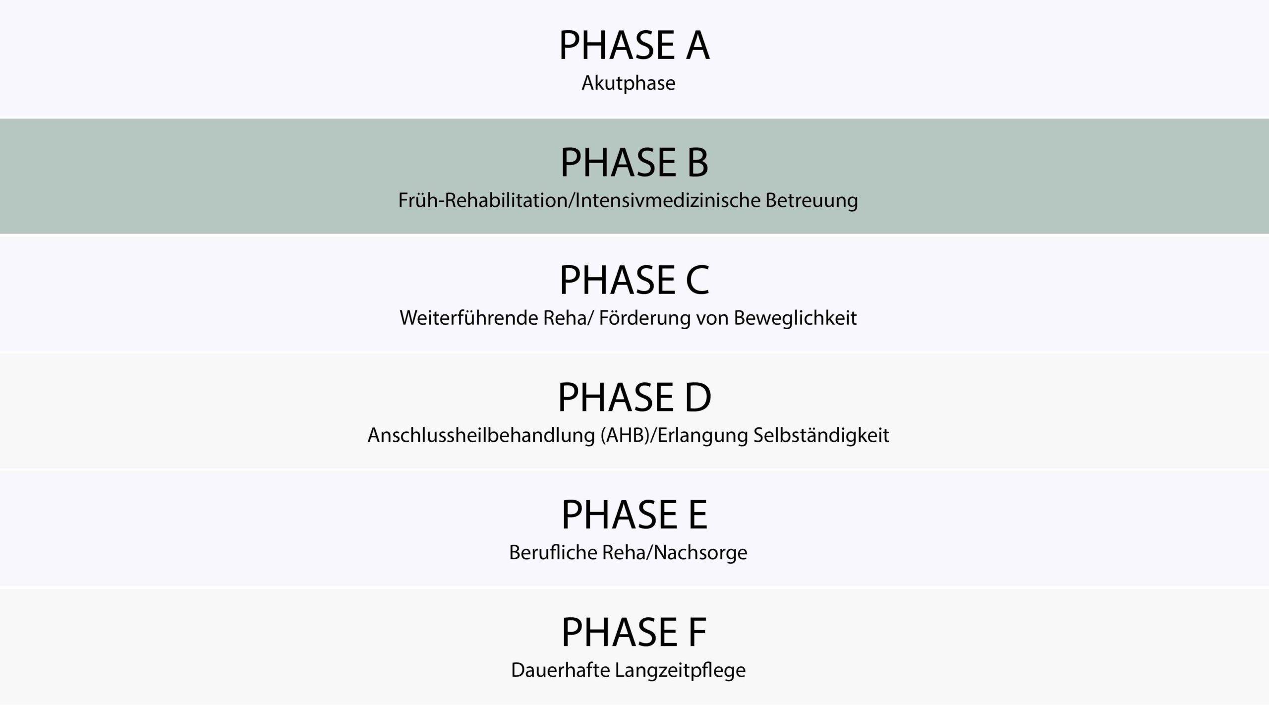 Schaubild des Phasenmodels mit Phase B