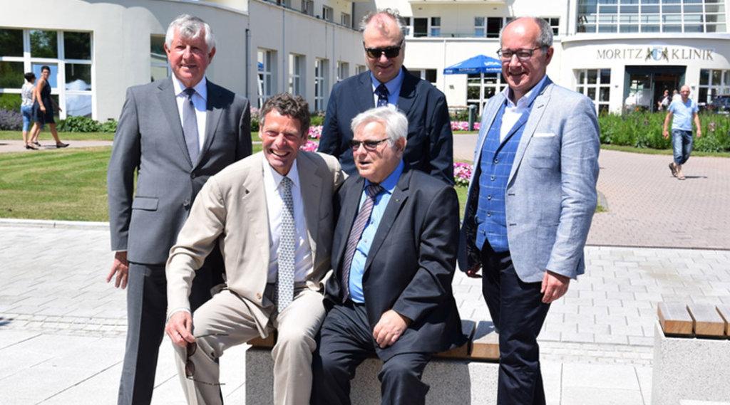 Pressefoto 25 Jahre Geschäftsführer der Moritz Klinik