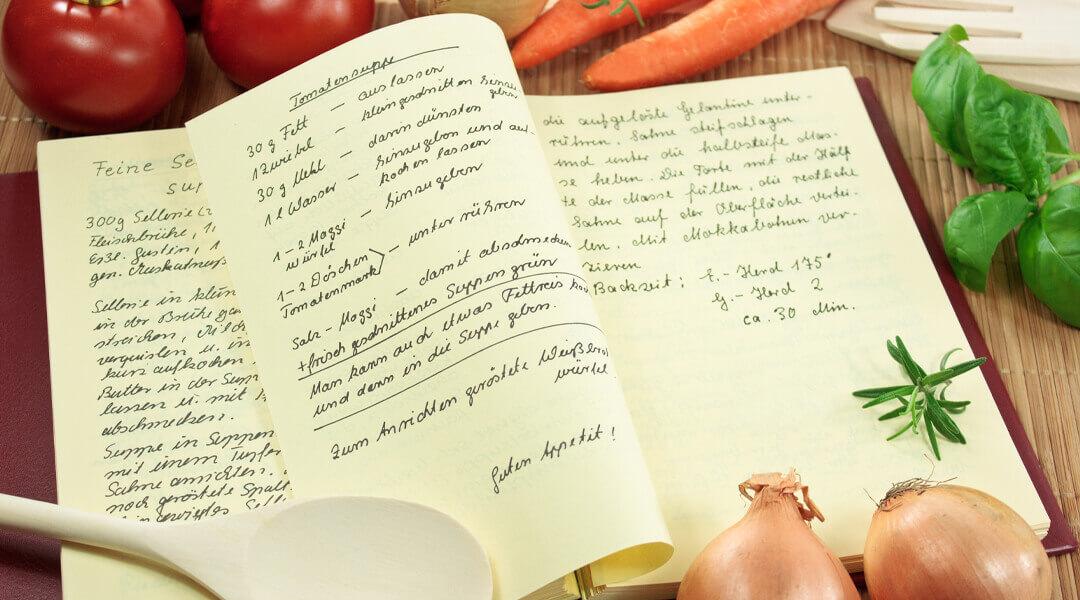 Ernährungsberatung Rezeptblock für die Lehrküche der Moritz Klinik