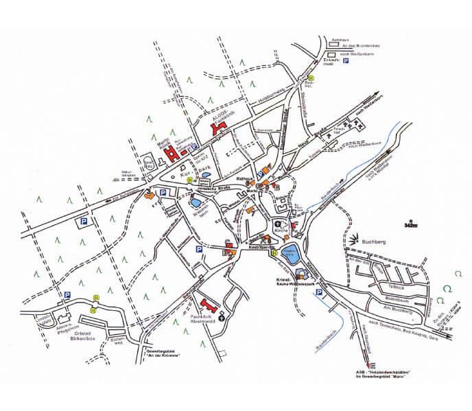 Stadtplan Bad Klosterlausnitz in Thüringen
